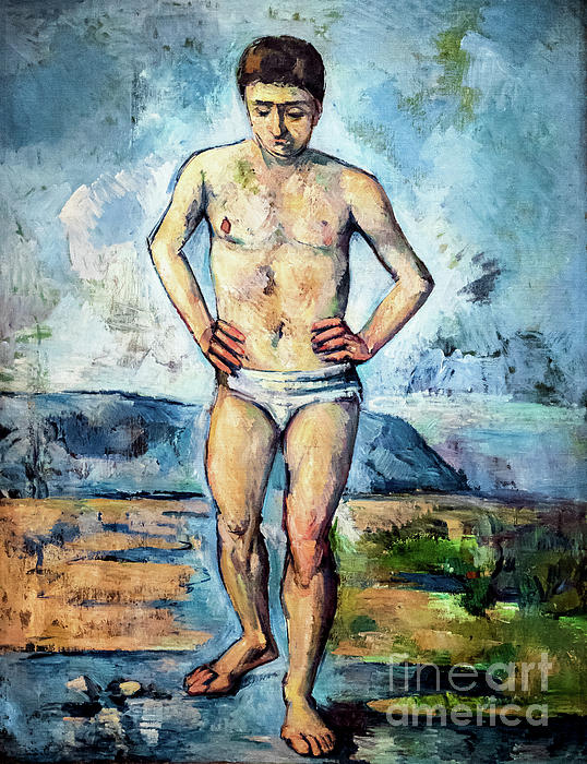 The Male Bather by Paul Cezanne